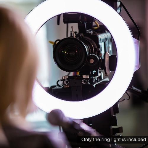 F & V R720 Lumic Professional Ring Video Fotografie Studio Licht Lampe 720pcs LEDs 5600K für DSLR Kamera Camcorder mit Tasche Farbplatten