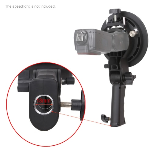 Tomtop coupon: S-shaped Handheld Grip Portable Bowens Mount Speedlight Bracket for Flashlight Softbox Support Reflective Umbrella and other Photography Studio Accessories
