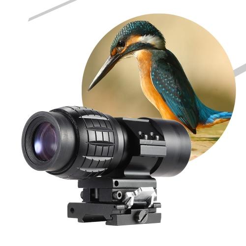 バードウォッチング狩猟のフリップ側に 20 mm マウントと拡大鏡倍率スコープ サイト x 3
