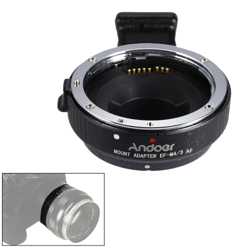 Andoer EF-MFT Auto Focus Electronic Lens Mount Adapter Ring for Canon EOS EF/EF-S Lens to M4/3 Camera Such As for Olympus Panasoni