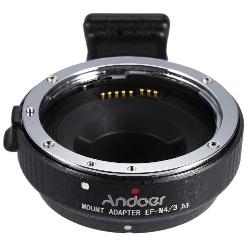 Andoer EF-MFT Auto Focus Elektronische Objektiv Mount Adapter Ring für Canon EOS EF / EF-S Objektiv auf M4 / 3 Kamera wie für Olympus Panasonic M4 / 3 Kamera