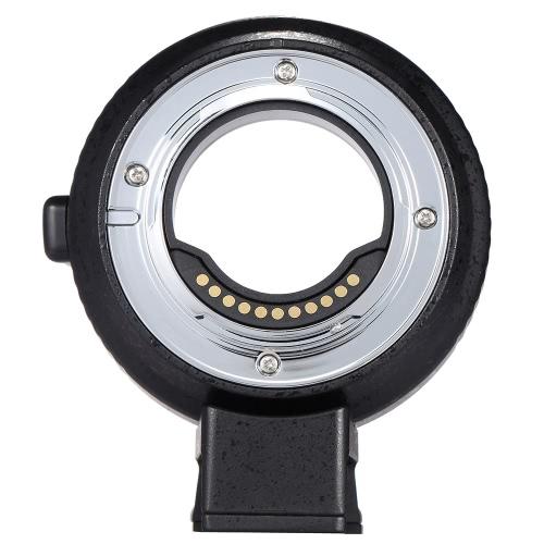 Andoer EF-MFT Anillo de montaje de lentes electrónicas de enfoque automático para Canon EOS EF / EF-S Lente a cámara M4 / 3 tal como para la cámara Olympus Panasonic M4 / 3
