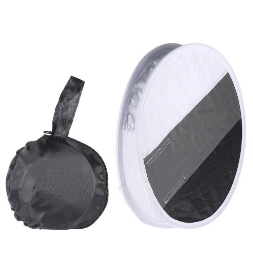 多機能12インチ/ 31センチメートルミニポータブルラウンドキヤノン、ニコン、シグマ永諾GODOX Andoer NeewerのVivitarスピードライト用のホワイト/グレー/ブラックカラーを用いたオンカメラフラッシュストロボディフューザーソフトボックス