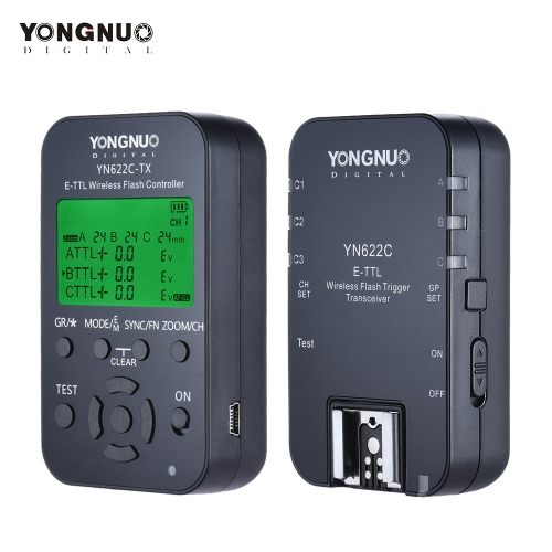 YONGNUO YN622C-KIT Wireless Remote Control 100M E-TTL Flash Trigger Transceiver Pair Kit for Canon EOS Series DSLRs