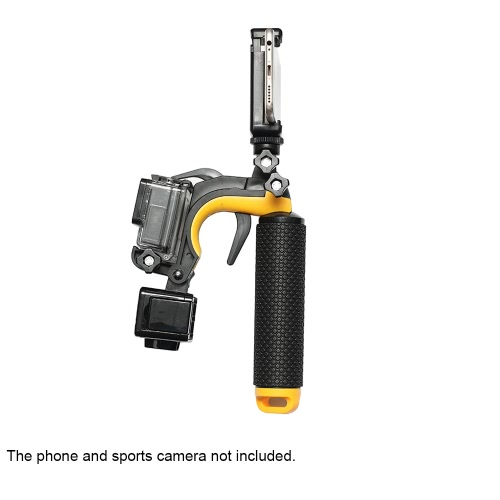 Shutter Trigger Floating Hand Grip Handle Mount with LED Fill-in Light for Gopro Hero 4 / 3+ / 3 Action Sports Camera Smartphone