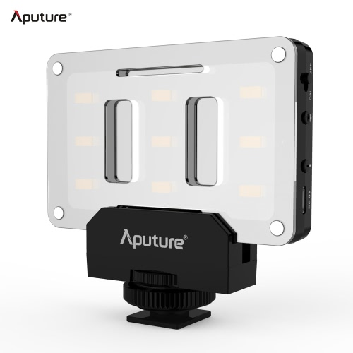 Aputure AL-M9 Amaran Lighting Up Pint-Sized LED Fill Light Mini Video Light with 9 SMD Bulbs TLCI 95+ 9 Steps Adjustable Brightness Ultra-thin Lightweight