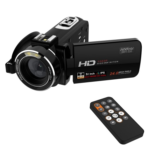 Andoer HDV-Z20 Portable 1080P Full HD Max 24 Mega Pixels 16× Digital Zoom Camcorder with Remote Control
