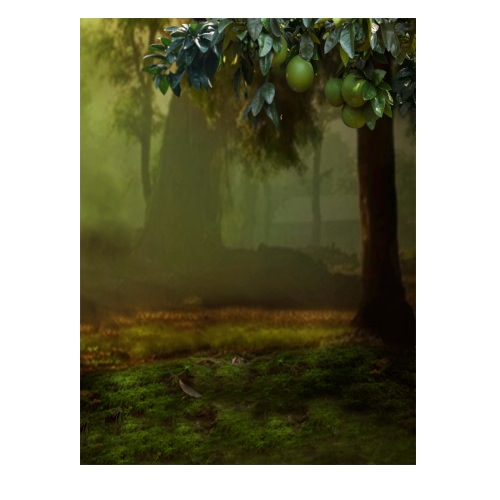1.5 * 2m Photography Background Backdrop Computer Printed Fruit Tree Pattern