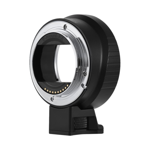 Andoer EF-NEX IV High Speed Electric Lens Mount Adapter Ring AF Auto Focus Auto Aperture Exposure Adjustable Anti-shake for Canon EF/EF-S Lens for Sony A7 NEX E-Mount A7 A7R  A7II A7SII  A7RII A6000 A6300 A6500 A5300 ILDC Camera