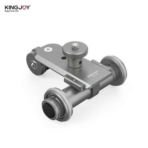 Kingjoy PPL-06 motorisierter elektrischer 3-Rad-Video Pulley Auto Dolly Roll Slider Skater für Kanone Nikon Sony DSLR-Kamera-Camcorder für iPhone 7 / 7s / 6 / 6s für Samsung Huawei Smartphone