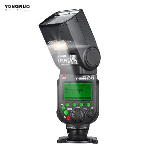 YONGNUO YN968EX-RT drahtlose TTL Master Flash Speedlite mit integriertem LED-Licht 1 / 8000s HSS für Canon 500D 550D 40D 1000D 1100D 1200D