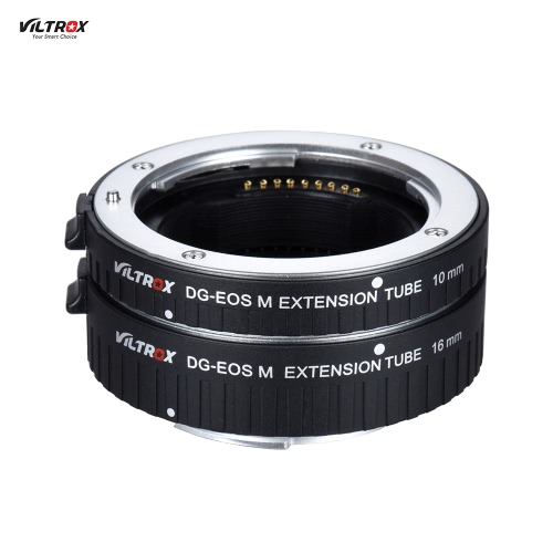 Viltrox DG-EOS M Automatic Extension Tube 10mm and 16mm Auto Focus for Canon EF-M Mount Series Mirrorless Camera and Lens
