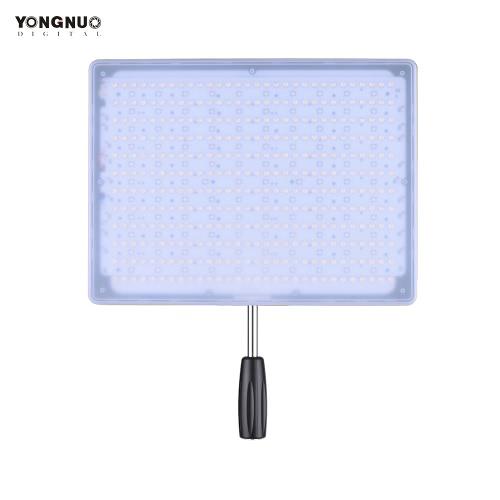 YONGNUO YN600 RGB 3200K 5500K Bi-Color Temperature + RGB LED Video Light Soft Light Slim & Light Design Adjustable Brightness CRI≥95 with Remote Controller Support APP Remote Control Studio Lighting