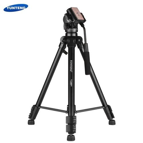 YUNTENG VCT-880キャノンニコンの2ウェイダンピングボールヘッドを使用したポータブルアルミ合金三脚3セクション伸縮ソニーDSLRカメラビデオカメラ最大負荷容量5kg