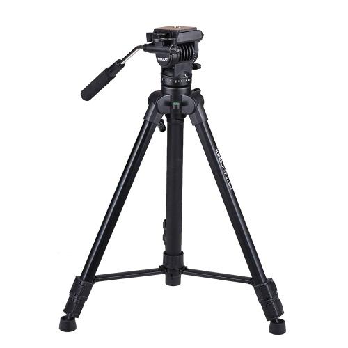 Kingjoy VT-1500 de 166cm / 5.4 pies de peso ligero portátil cámara de vídeo trípode