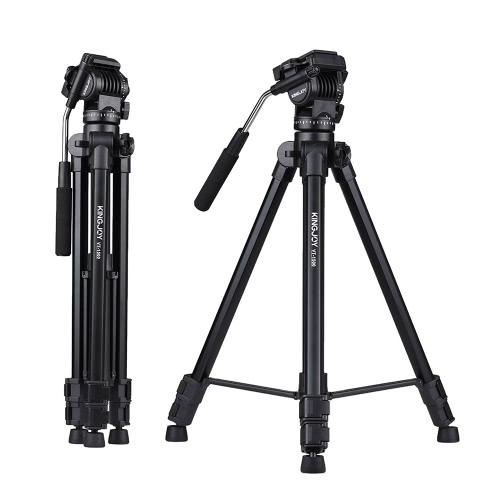 Kingjoy VT-1500 166cm / 5.4ft Tripé de vídeo portátil portátil leve