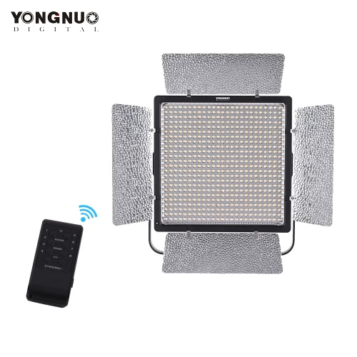 YONGNUO YN860 3200K-5500K Bi-Color Temperature Pro LED Video Light Fill Light Adjustable Brightness CRI 95+ with CT Filters Remote Controller Support APP Remote Control for Studio Macro Film Wedding Portrait Outdoor Lighting