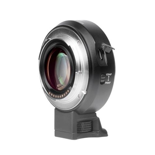 Adaptador elevador de velocidad de montaje de lente Viltrox EF-E II