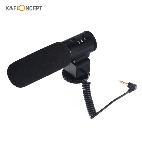 K & F CONCEPT CM-500 Metal Cardioid Condensador direccional Shotgun Video Micrófono