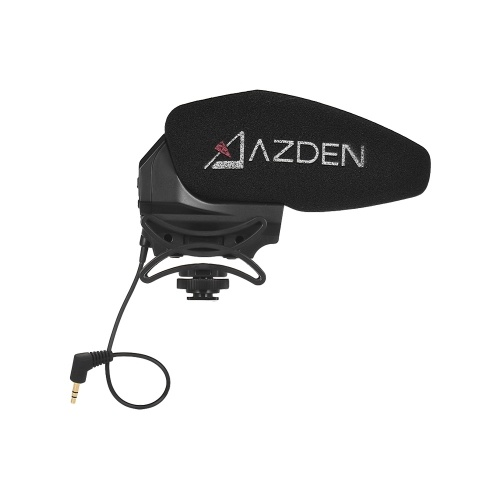 AZDEN SMX-30 Stereo/Mono Switchable Video Microphone Wide Frequency Response Low Noise Operation Gain Control with Brand New Shock Absorbing Shoe Mount for Canon Nikon Sony DSLR ILDC Camera