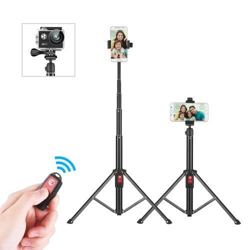 Support flexible de support de bâton de Selfie de trépied de 55 pouces avec la télécommande de Bluetooth
