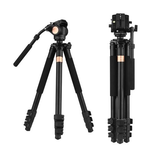 Andoer 70inch Профессиональный штатив для видеокамеры с алюминиевым сплавом для тяжелых условий работы с головкой для перетаскивания жидкости для камеры Canon Nikon Sony DSLR Camera Cam, Полезная нагрузка 15 кг