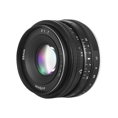 35mm F1.7 Large Aperture Manual Prime Fixed Lens D5958