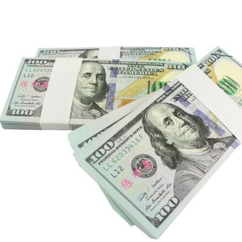 Bezeichnung 100 USD Pack USD Papier Bar Atmosphäre Requisiten Geld für Film TV Video Neuheit Fotografie Werkzeuge (20 Stücke)