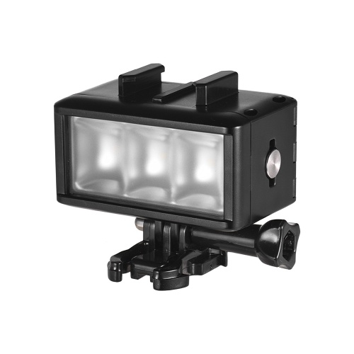 Waterproof LED Video Light Dimmable Lamp Underwater 40M Diving with 900mAh Rechargeable Battery for Gopro 7 Hero Yi SJ4000/SJ5000/Xiaomi 5/5S/4/4S/3+/3/2/SJCAM Action Camera