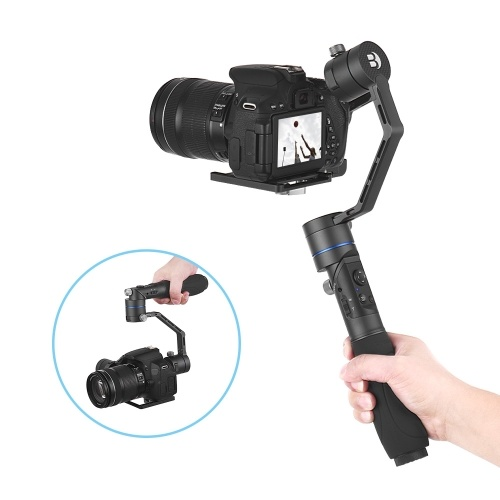 BENRO R1 Motorized 3-Axis Gimbal Handheld Stabilizer Anti-shake Supports  Low Angle Photography Max  Load 1 8kg/ 4lbs with Carry Case for Sony A7/