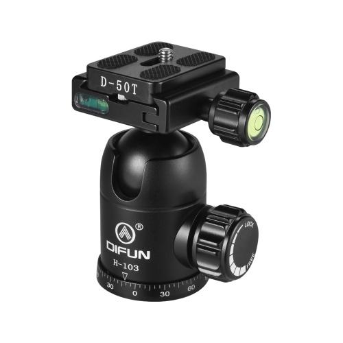DIFUN H-103 Tête de trépied avec vis vidéo d'amortissement panoramique en alliage d'aluminium, tête panoramique, vis 1/4 pouce pour appareils photo Canon Nikon Sony DSLR ILDC Capacité de charge 10kg