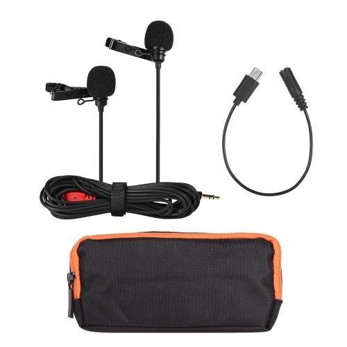 Zweikopf-Revers-Clip-On-Mikrofon Mic