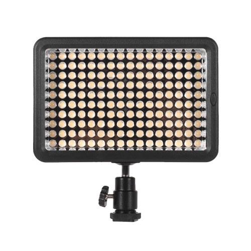 Профессиональная диммируемая сверхмощная светодиодная видео подсветка 5600K Фотография Заполняющий свет 160 светодиодов Бисер CRI 95+ с цветными фильтрами для Canon Nikon Sony Pentax Olympus DSLR Видеокамера