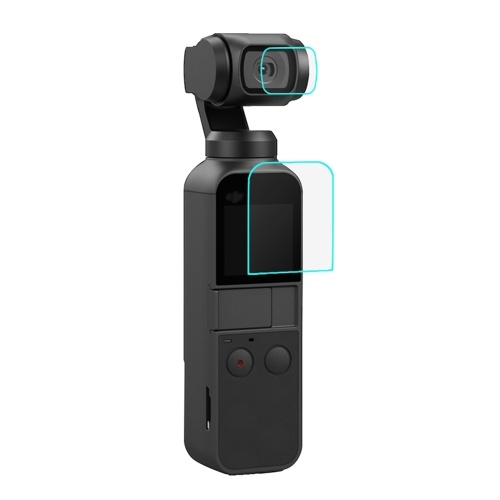 PULUZ Camera Tempered Glass Film Ultra-thin HD Lens Protector & Screen Film Scratch-proof Explosion-proof for DJi OSMO Pocket Camera Gimbal Accessory