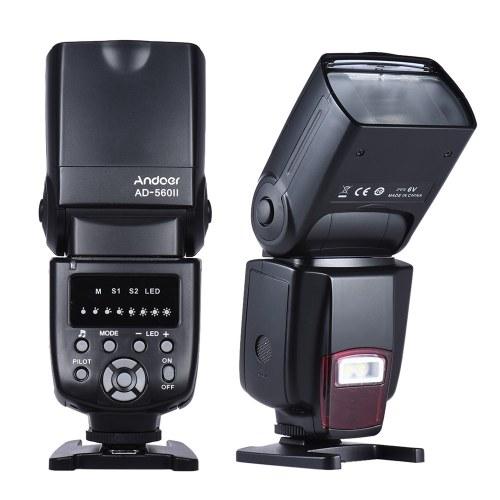 Andoer AD-560II Pro Universal Blitzgerät Speedlite Blitzgerät GN50 m