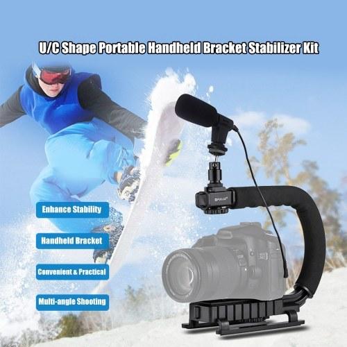 PULUZ U-Shaped Camera Bracket Portable Handheld Video Handle DV Bracket Stabilizer Kit