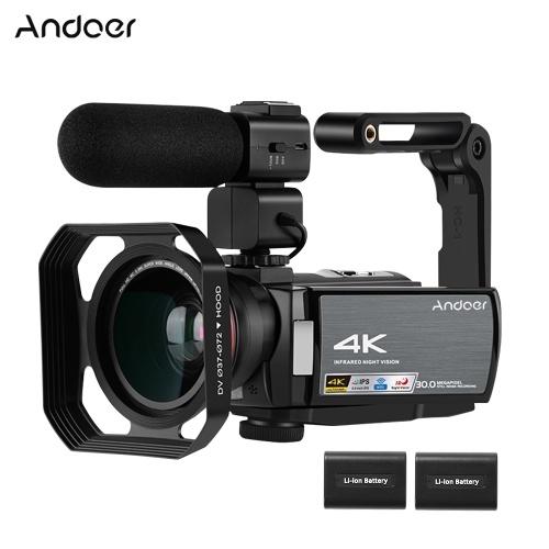 Andoer HDV-AE8 4K DV-Recorder mit digitaler WiFi-Videokamera