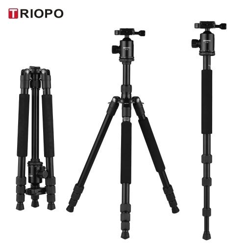 TRIOPO M2508 Aluminum Alloy Camera Tripod Monopod with D-2A 360° Panoramic Ball Head