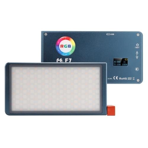 FalconEyes F7 Светодиодная лампа для камеры RGB полноцветная видеолампа карманного размера с несколькими эффектами профессиональные аксессуары для фотосъемки