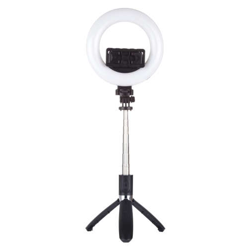 PULUZ Ringlicht Handgeschweißtes Fülllicht BT Selfie Stick Stativlicht für Live-Übertragung Vlogging