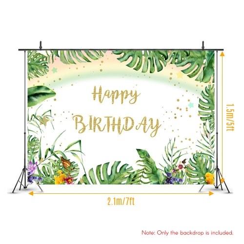 #3258 7*5ft Happy Birthday Cartoon Backdrop Baby Shower Kid Birthday Photography Background