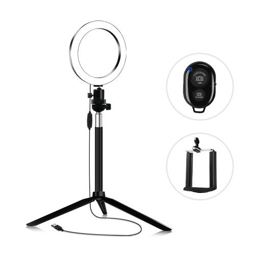 docooler 14.5cm 3200K-5600K Bicolore Dimmable Beauty Light Set Ring Video Light 5W équipé