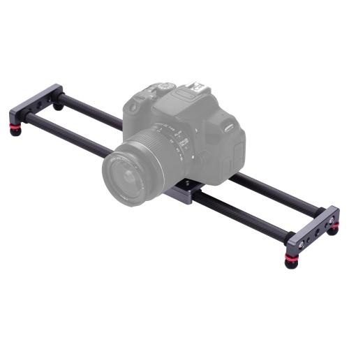 Rail de stabilisateur vidéo de chariot de fibre de carbone de curseur de caméra de photographie 40cm / 15.7inch