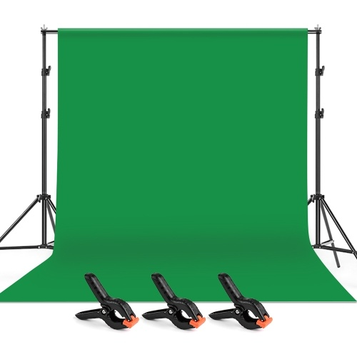 Andoer 2 * 3m / 6,6 * 10ft Studiofotografie Green Screen Hintergrund Hintergrund Waschbarer Stoff aus Polyester-Baumwolle