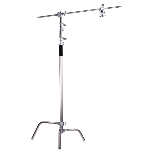 Professional Photography Light Stand Aluminum Alloy C-Stand with Boom Arm Folding Legs 20kg/44lbs Load Capacity 330cm/10.8ft Max. Height for Photo Studio