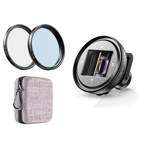APEXEL APL-PRAN-V2 1.33X Smartphone lentille anamorphique téléphone lentille de caméra externe