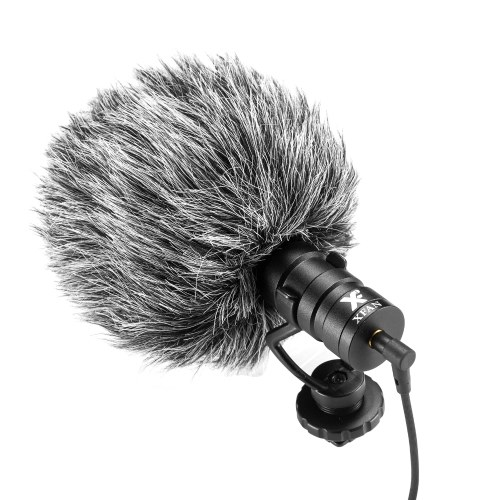XFAN D1 On-camera Microphone Universal Cardioid-directional Condenser Microphone Interview Vlogging Microphone