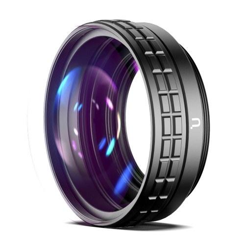 Ulanzi WL-1 18-mm-Weitwinkelobjektiv 10-fach Makroobjektiv 2-in-1-Zusatzobjektiv mit Reinigungstuch mit externem Adapterringersatz für Sony ZV1 RX100M7-Kameras