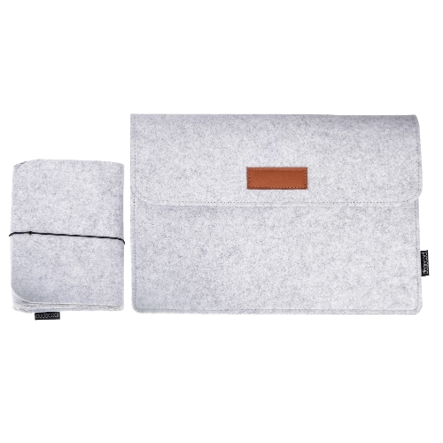 dodocool 12 Inch Laptop Felt Sleeve Envelope Cover Ultrabook Carrying Case Notebook Protective Bag with Mouse Pouch for 12