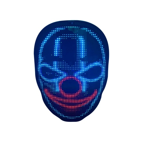 LED Glowing Toy Luminous Mask Handy APP Operated DIY Wörter Ändern Gesicht Party Kostüm Dress Up Maskerade (45 Dynamic Pictures 70 Static Sictures)